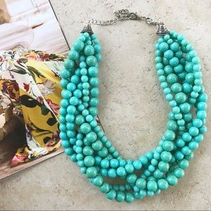 Turquoise Braided handmade necklace